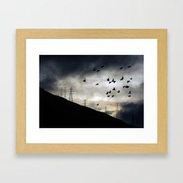 Flying high in Arrochar Framed Art Print