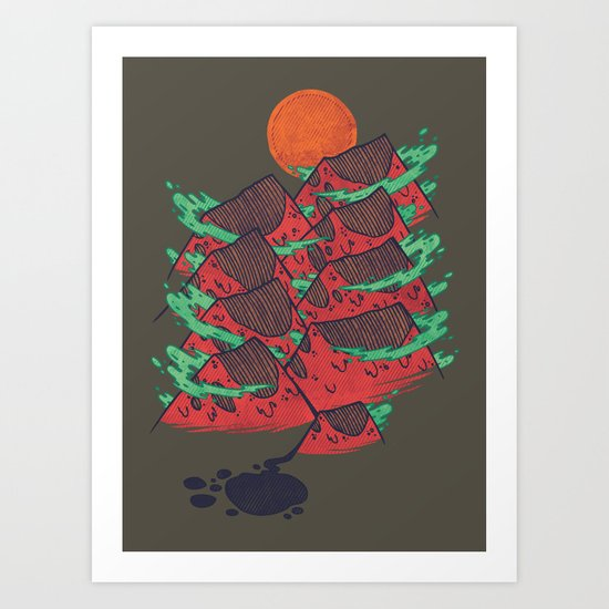 There's Chocolate in Those Mountains Art Print