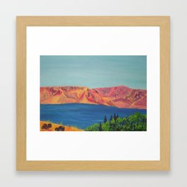 A view of the Sea of Galilee Framed Art Print