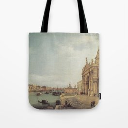 Entrance to the Grand Canal - Canaletto (Distressed Plaster Look) Tote Bag