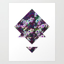 daisy geo Art Print