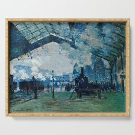 Claude Monet - Arrival Of The Normandy Train, Gare Saint Lazare Serving Tray