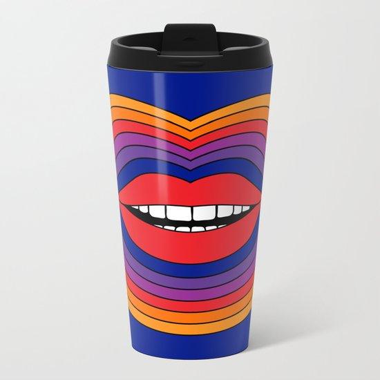 Pop Lips Metal Travel Mug