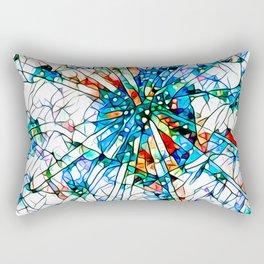 Glass stain mosaic 2 star - by Brian Vegas Rectangular Pillow