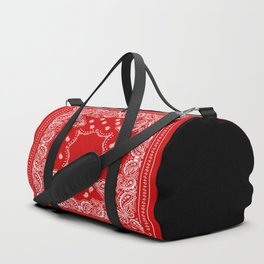 Bandana in Red & White Duffle Bag