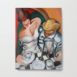 Coffee for two. Miguez Art Metal Print