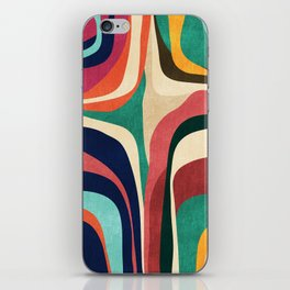 Impossible contour map iPhone Skin