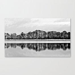 White Symphony of Winter Lake Canvas Print