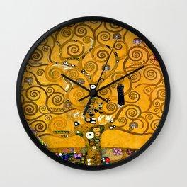 Gustav Klimt Tree Of Life Gold Version Wall Clock