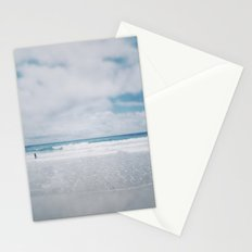 Vintage beach. Playing with the waves. Stationery Cards