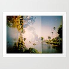 Venice Canals [lo-fi] Art Print