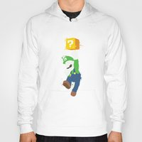 luigi Hoodies featuring Luigi Paint by The Daily Robot