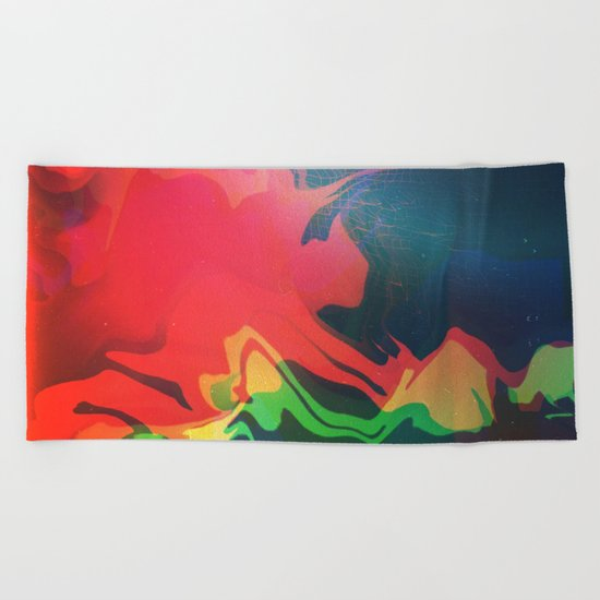 Glitch 22 Beach Towel