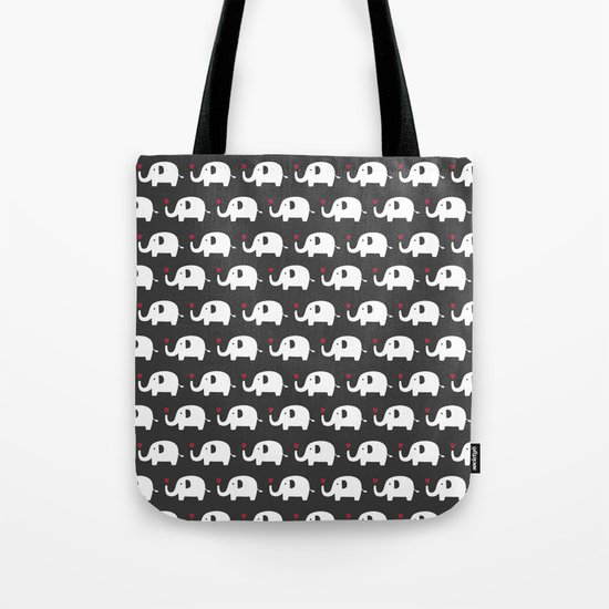 Elephants in love Tote Bag