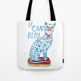 Le Chat Bleu Tote Bag