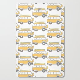 The Surf Life | Yellow Adventure Bus Cutting Board