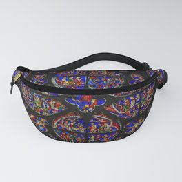 Stained Glass Rose Window 1 Fanny Pack