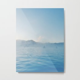 Steamy Blue Lagoon, Iceland Metal Print
