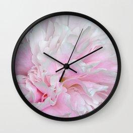 LOVELY PINK PEONY Wall Clock