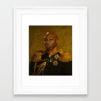 replaceface Framed Art Prints featuring Michael Clarke Duncan - replaceface by replaceface