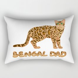 Bengal Dad Rectangular Pillow