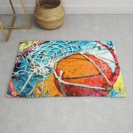 Basketball art print 103 Rug