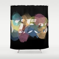 good vibes Shower Curtains featuring GOOD VIBES by Lasse Egholm