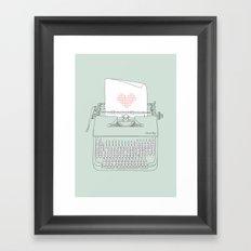 The Chemistry of Love Framed Art Print