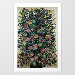 Feuilles - Leaves and Flowers by Seraphine Louis Art Print