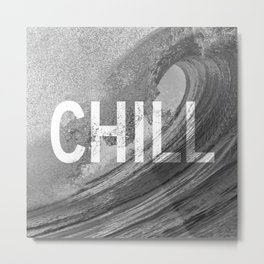 Chill Waves Metal Print