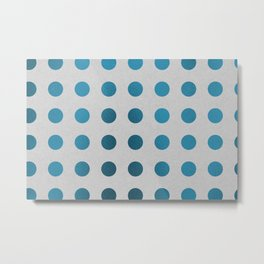 Color Foil Dots (Blue) Metal Print