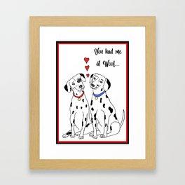 Dalmation Love Framed Art Print