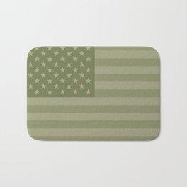 Camo Stars and Stripes – USA Flag in Military Camouflage Colors [FalseFlag 1] Bath Mat
