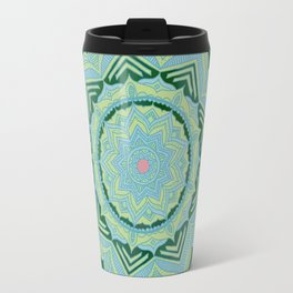 Green Swirl Mandala Travel Mug