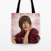 chihiro Tote Bags featuring Chihiro from Spirited Away 2 by Kimberly Castello