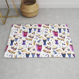 Percussion Instruments Delight Rug