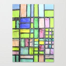Homage to Mondrian Canvas Print