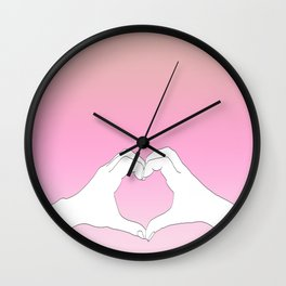 Hearted Hands Wall Clock