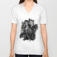 jessica lange V-neck T-shirts featuring The Witches - Susan Sarandon, Jessica Lange and Meryl Streep by BeeJL