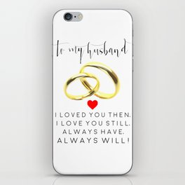 husband gift,husband and wife,love art,couples gift,wedding,anniversary,rings for men,romantic art iPhone Skin