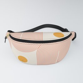 Abstraction_SUN_DOUBLE_LINE_POP_ART_Minimalism_001C Fanny Pack