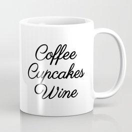 Coffee Cupcakes Wine (PINK) Coffee Mug
