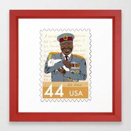 Dictators w/Pets: Idi Amin Framed Art Print
