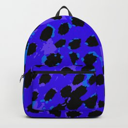 Cheetah Spots in Shade of Purple and Blue Backpack