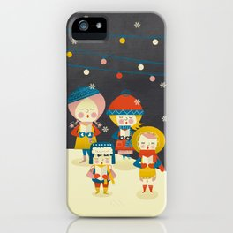 Christmas Carols Singers iPhone Case