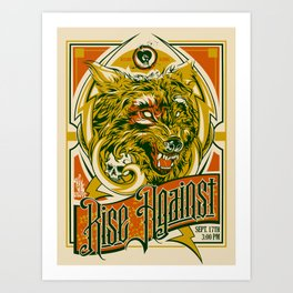 Rise Against band poster for appearance at record store Art Print