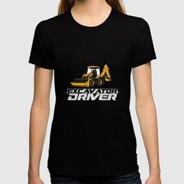 Excavator driver - dredger, construction T-shirt