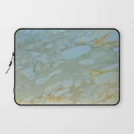 Marble in Blues and Golds, Italian  Laptop Sleeve