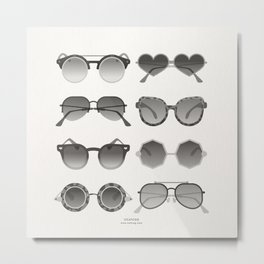 Sunglasses Collection – Black Palette Metal Print