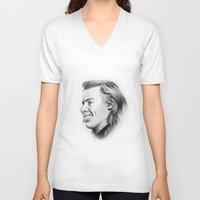 harry V-neck T-shirts featuring Harry by Stephanie Recking